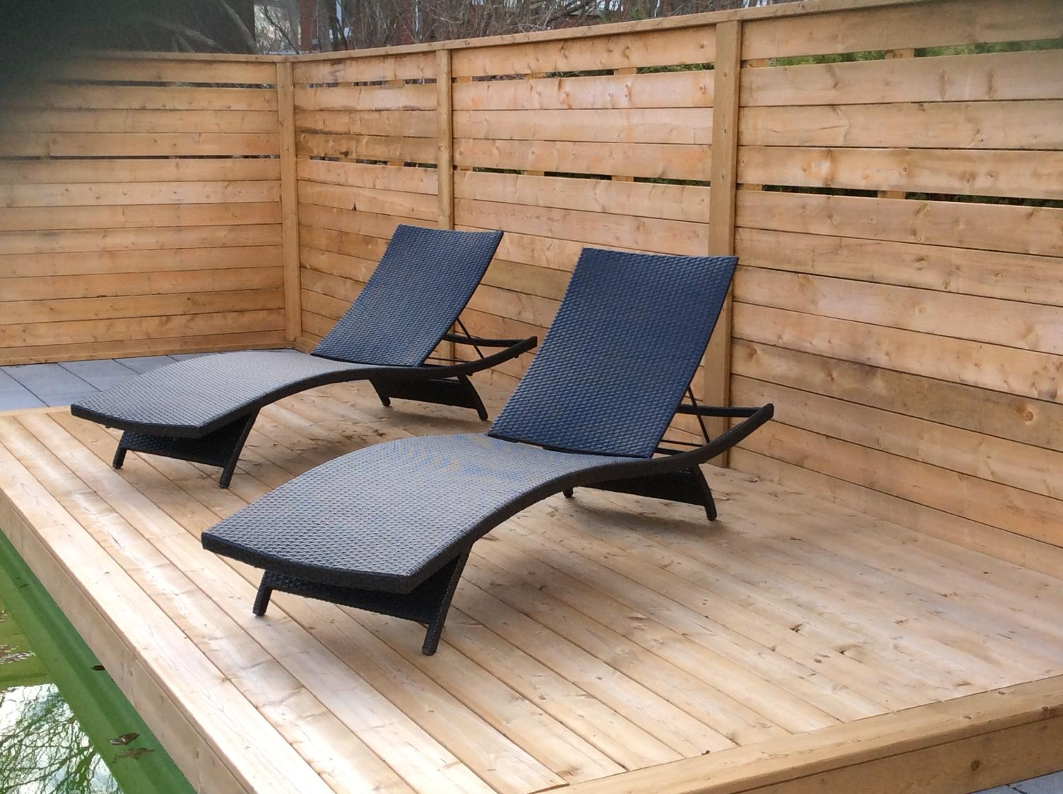 Find more modern patio lounge chair set of 2 for sale at for Outdoor furniture quebec