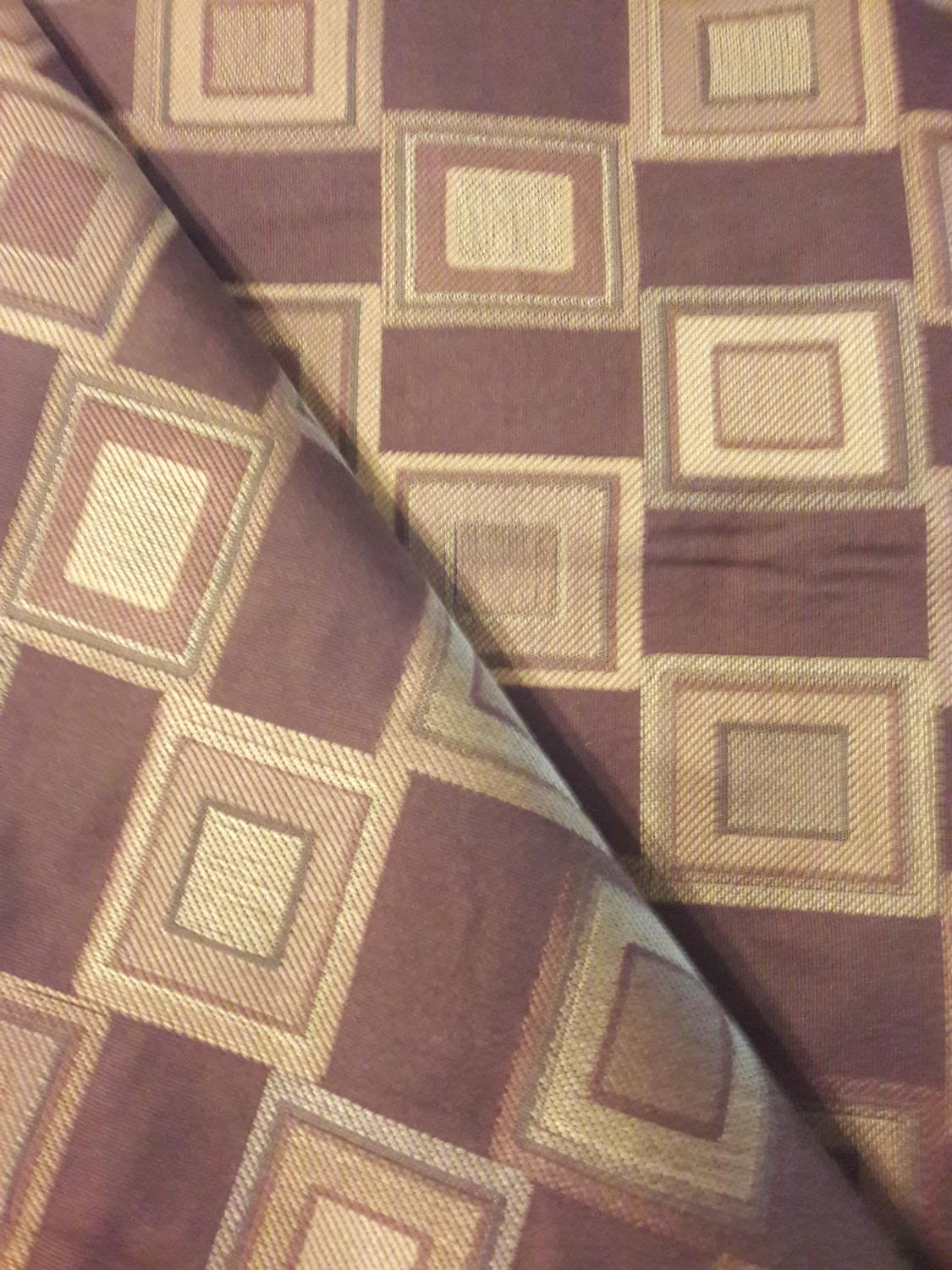 Find more 3 yards gold and brown square home decor fabric for Home decor 90 off