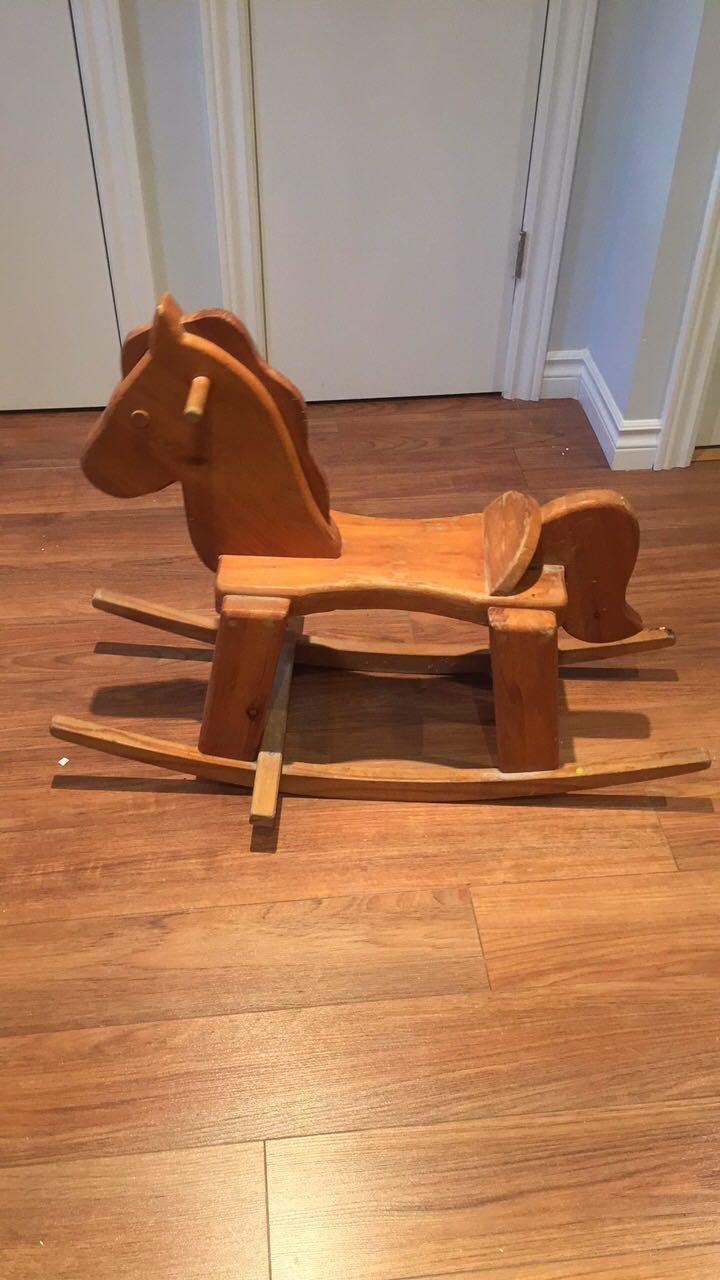 Best hand made wooden rocking horse for sale in dollard for Hand crafted rocking horse