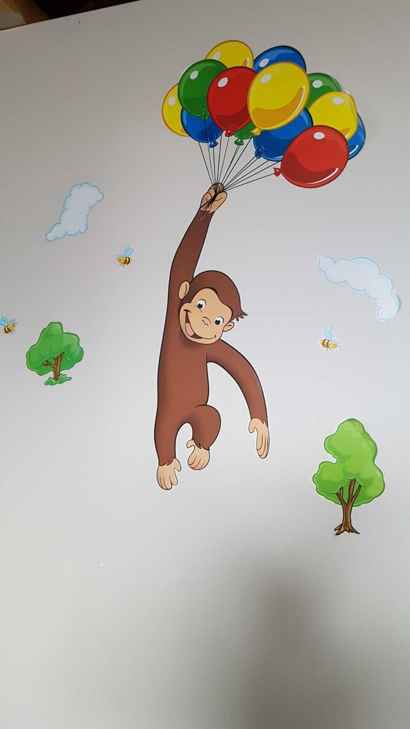 Find more curious george wall art for sale at up to 90 for Curious george wall mural