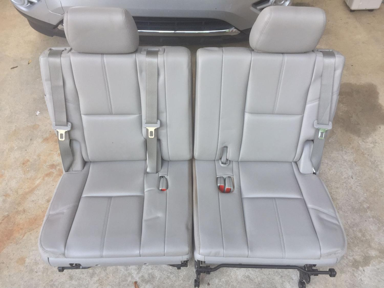 find more 07 14 chevy tahoe suburban gmc yukon third 3rd row seats grey leather for sale at. Black Bedroom Furniture Sets. Home Design Ideas