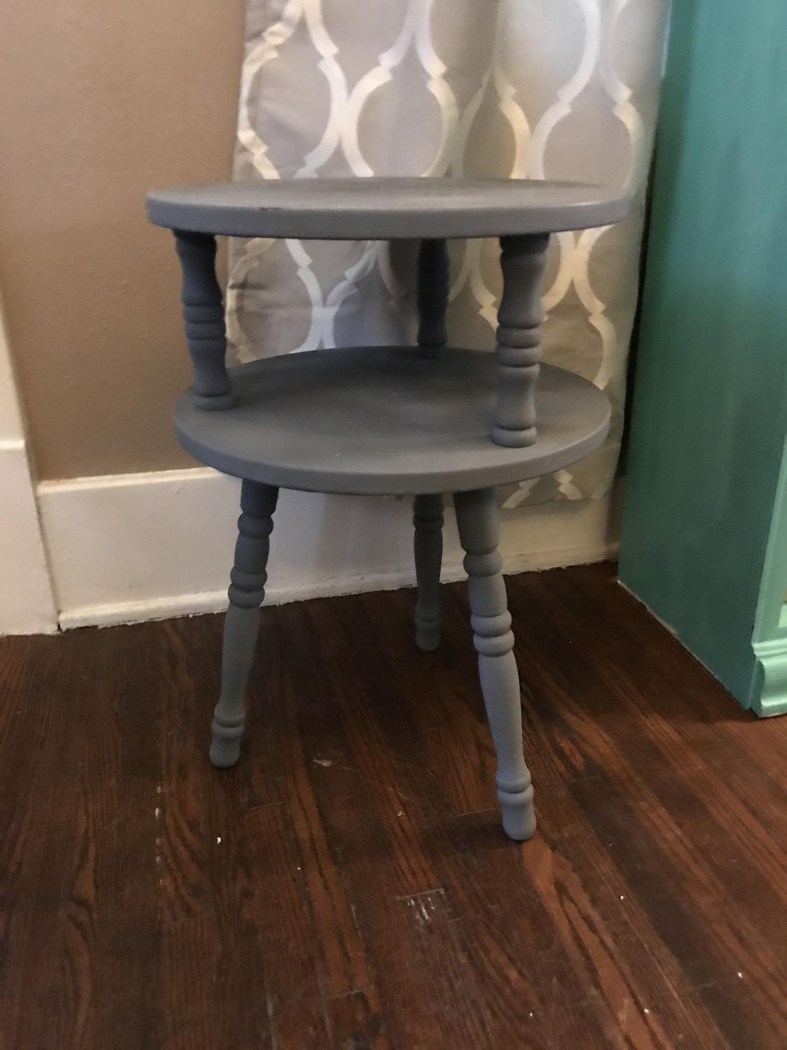 Find more small gray side table or plant stand for sale at for Table stand i 52 compose