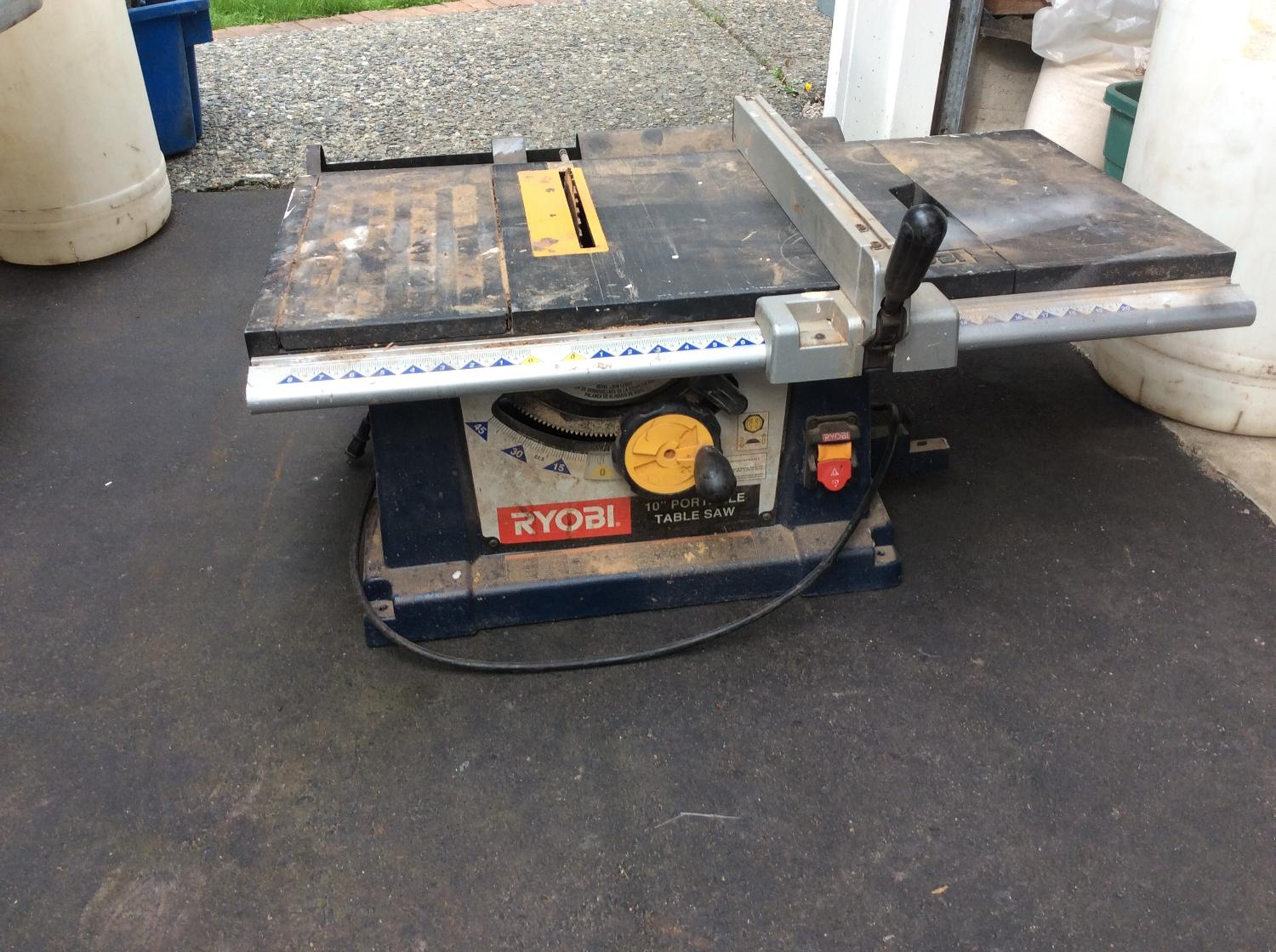 Find More Ryobi Portable 10 Table Saw For Sale At Up To 90 Off Ladner Bc