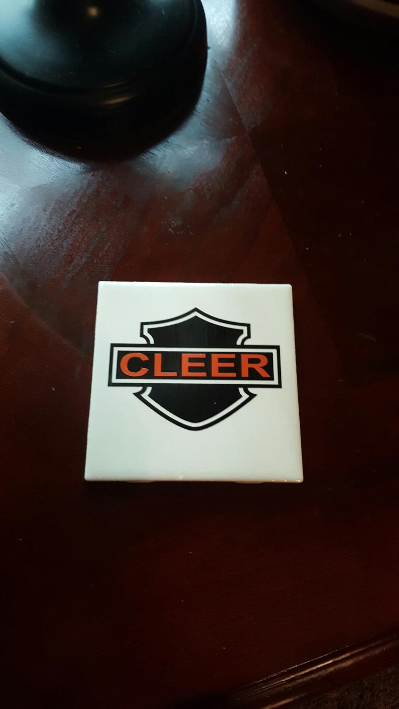 Best Ceramic Tile Coaster W Harley Davidson Shield Name