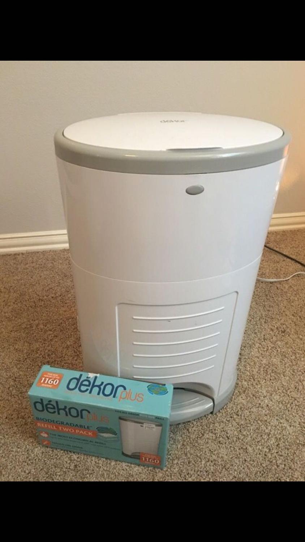 Best dekor plus diaper pail refill for sale in mckinney for Dekor plus diaper pail