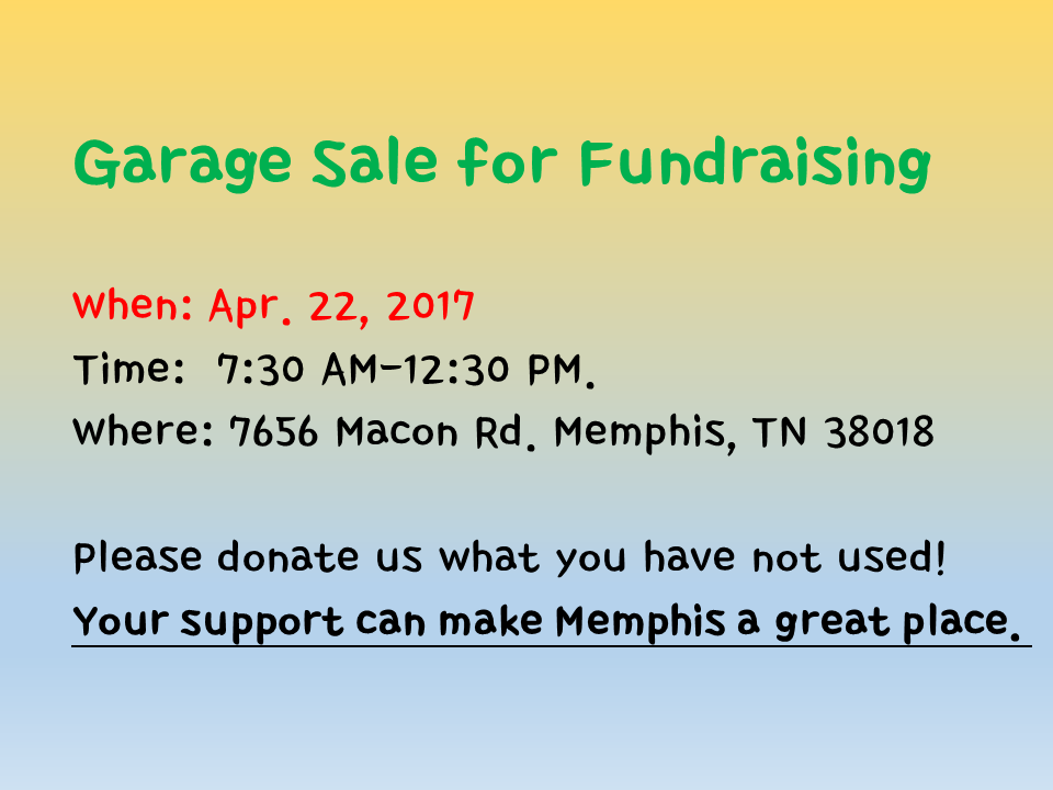 Garage sale for fundrasing vision tree centr in - Nearest garage to my current location ...