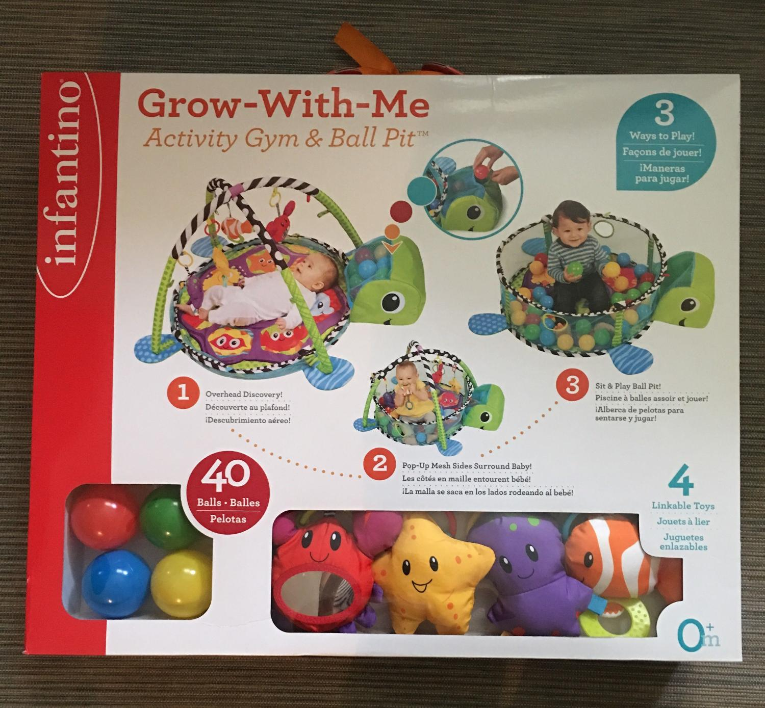 Best bnib infantino grow with me activity gym ball pit for Ball pits near me