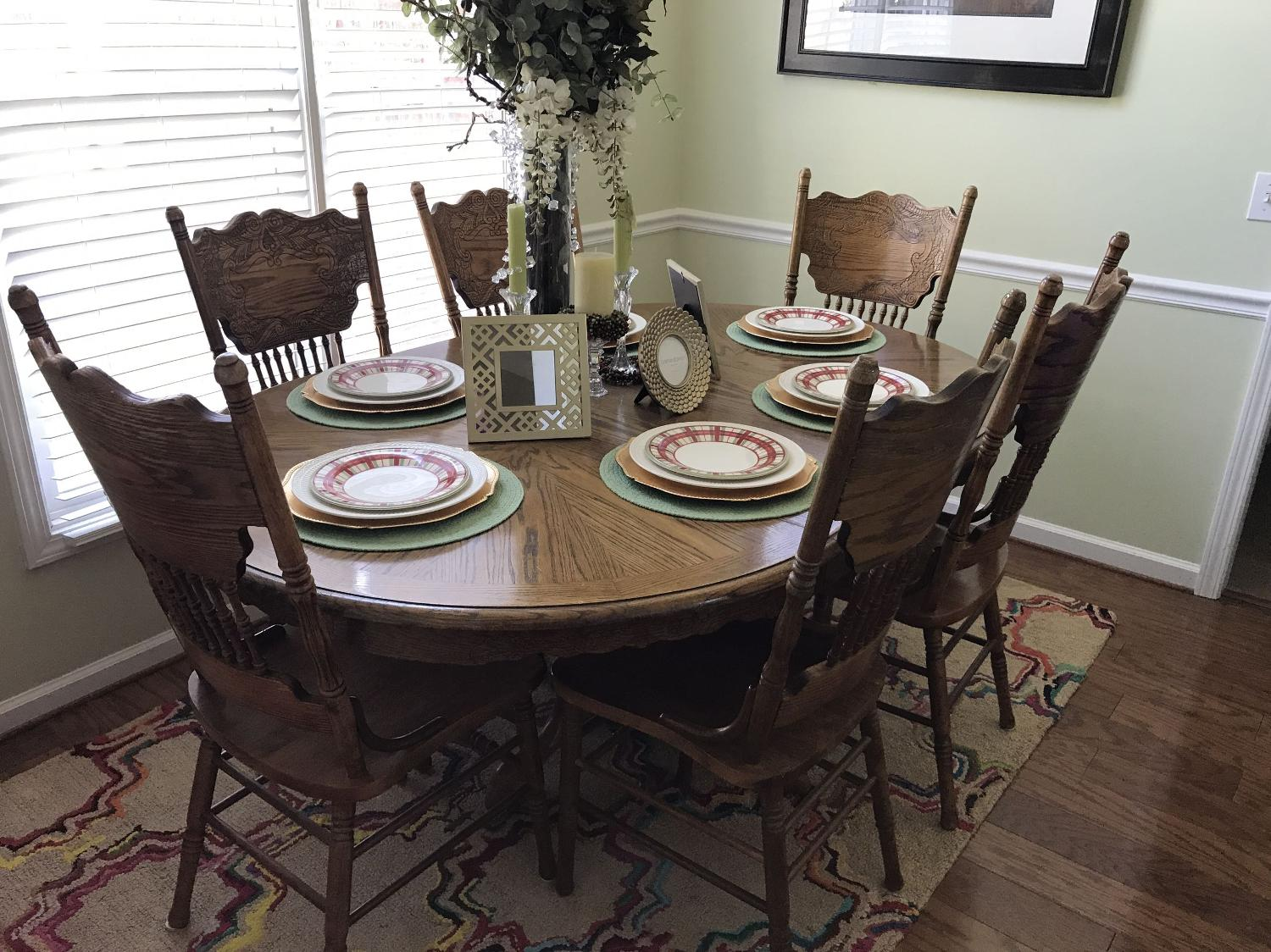 Find More Oak Dining Room Table With 6 Chairs For Sale At Up To 90 Off Sumter Sc