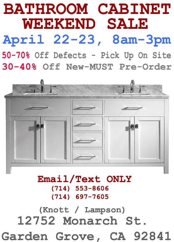 Bathroom Vanity Cabinet Sale ** Clearance/Overstock ...