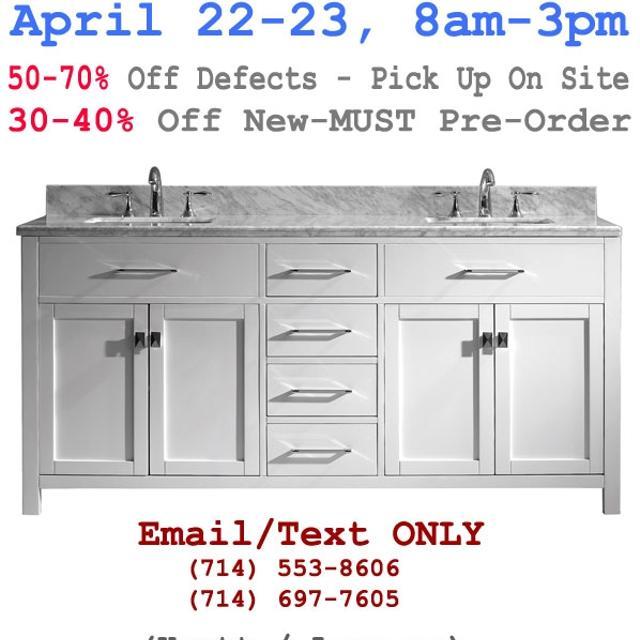 Bathroom vanity cabinet sale clearance overstock - Bathroom vanity liquidation sale ...