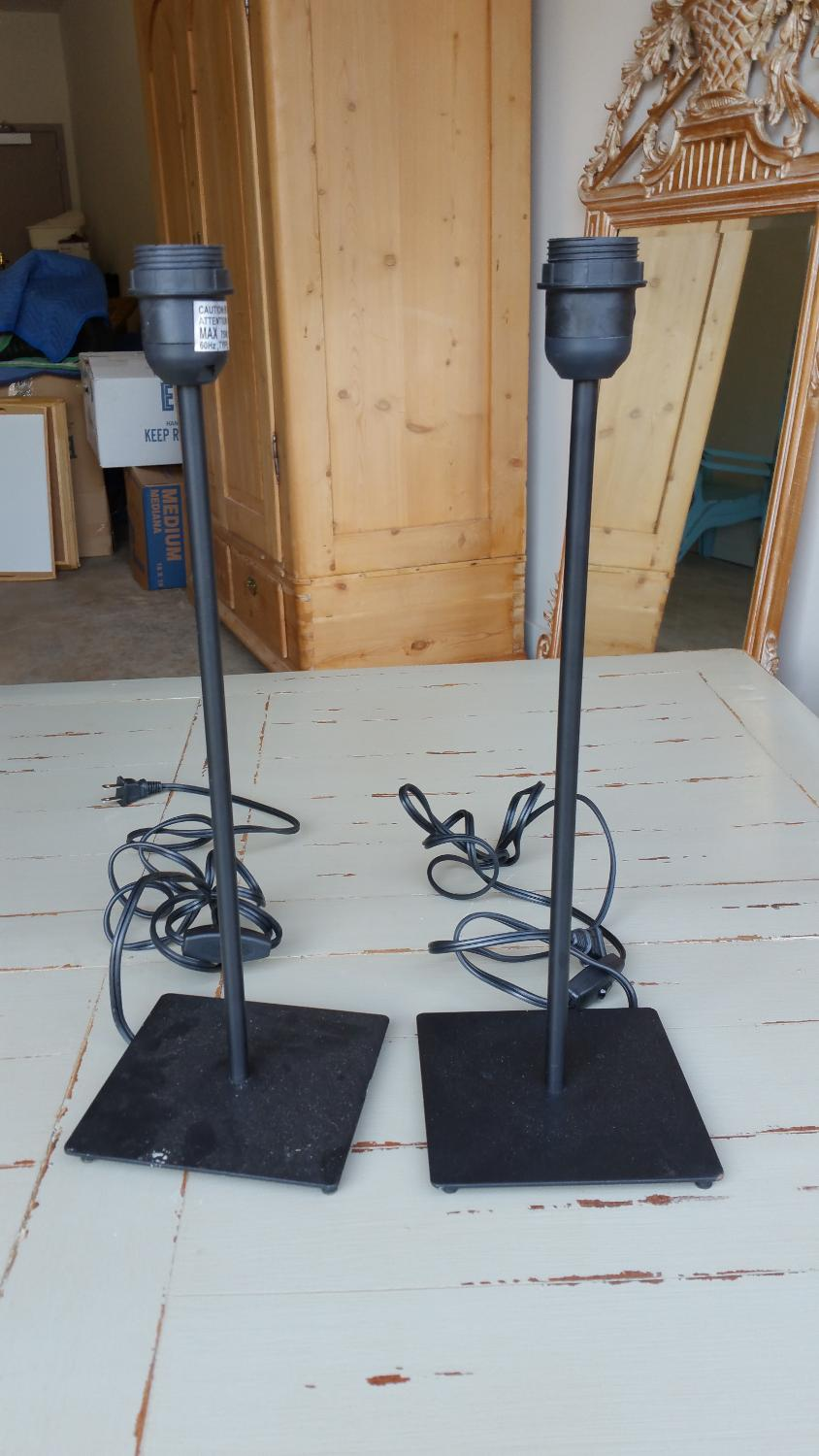 ... Pair Black Metal Lamps for sale in Monroe, North Carolina for 2017