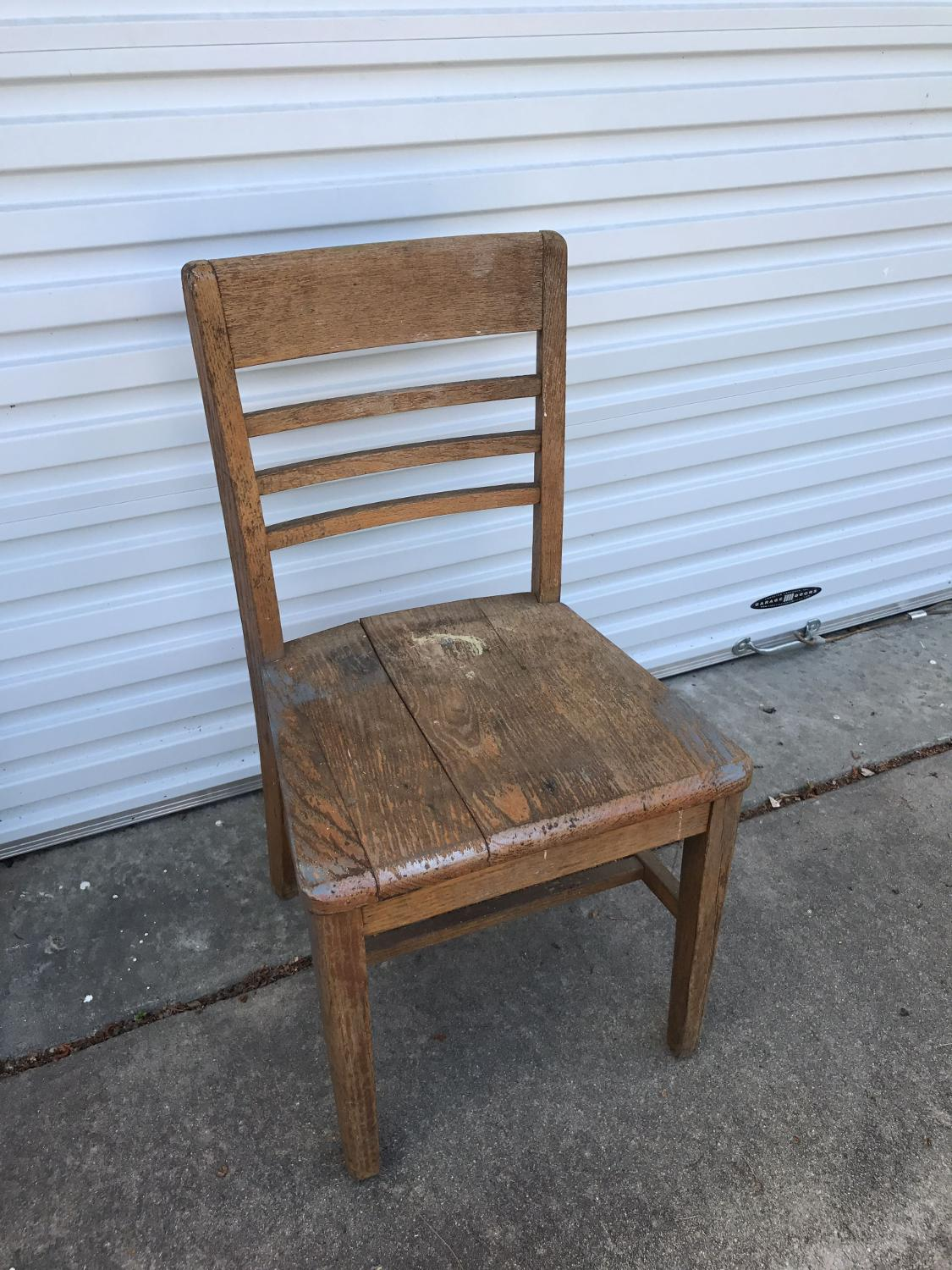 Best An Old Solid Wood Chair Very Sturdy For Sale In Sumter South Carolina For 2017