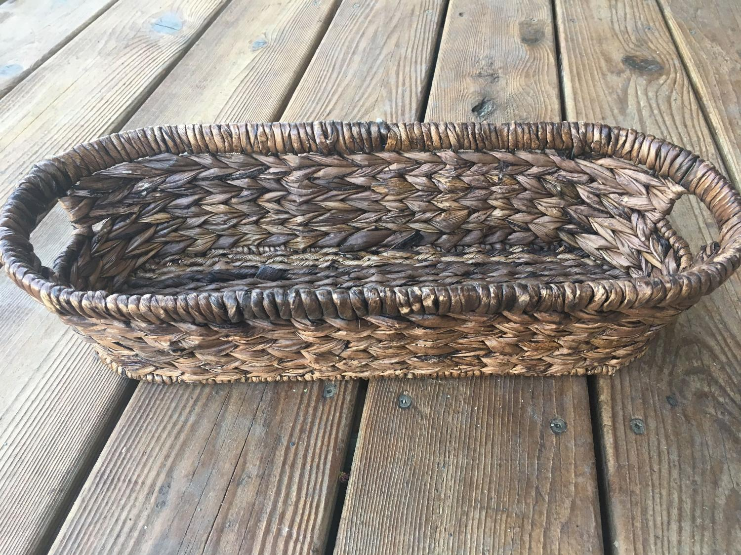Find More Brown Wicker Basket 16 1 2x7 Depth Is 4 For Sale At Up To 90 Off Appleton Wi
