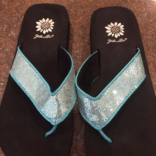 a79355fb4 Find more Yellow Box Flip Flops Shoes Real Glitter Summer Ladies ...