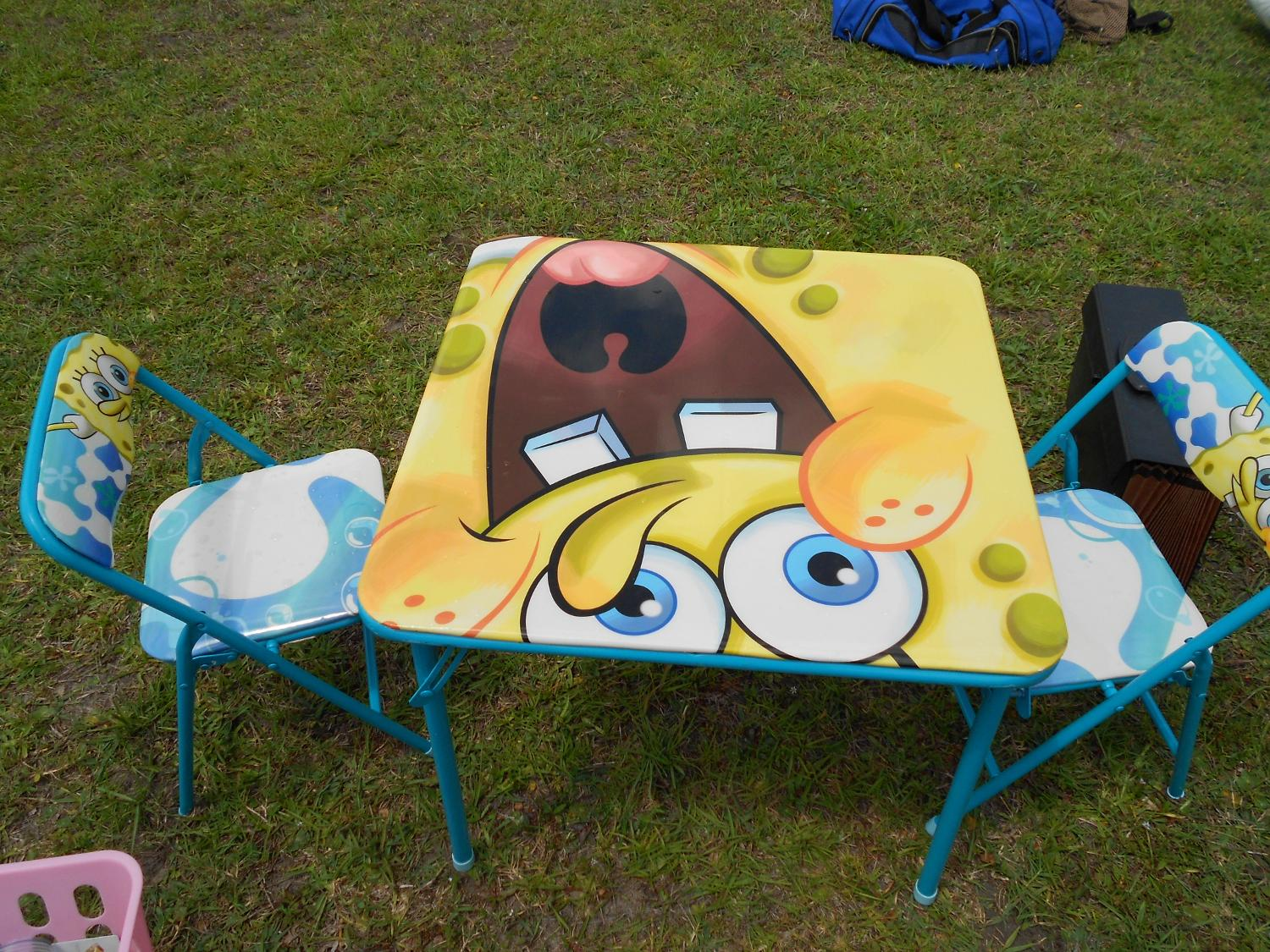 Find More Spongebob Kids Folding Table And Chairs For Sale