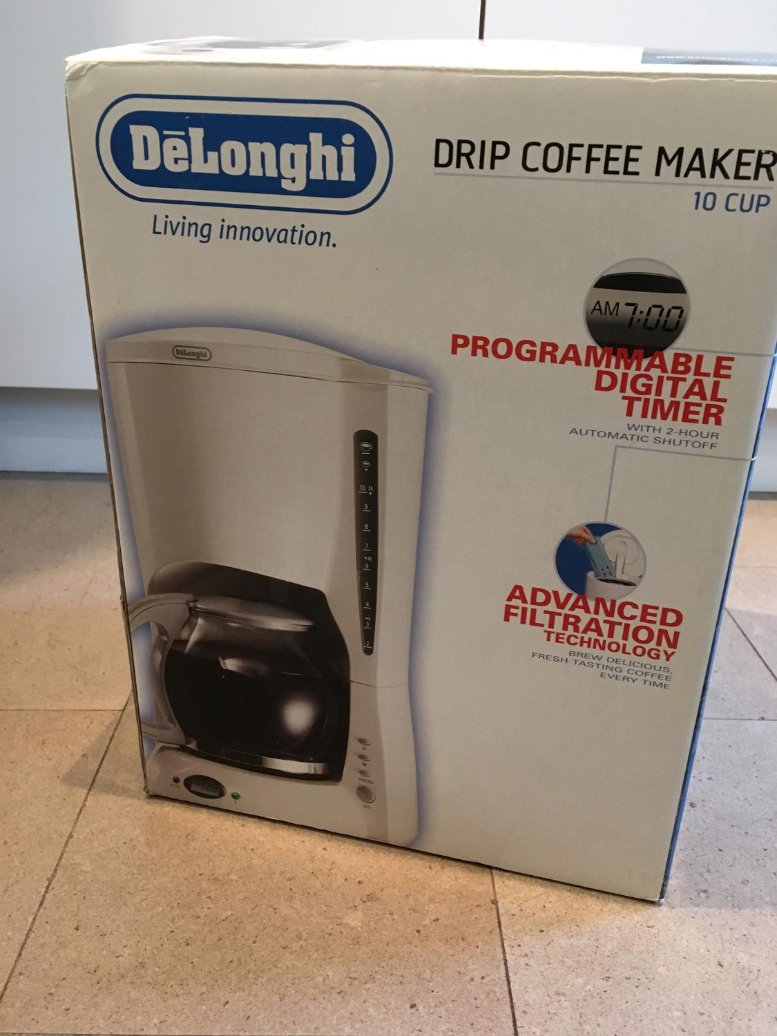 Find more Price Drop Delonghi 10 Cup Drip Coffee Maker - New In Box for sale at up to 90% off ...