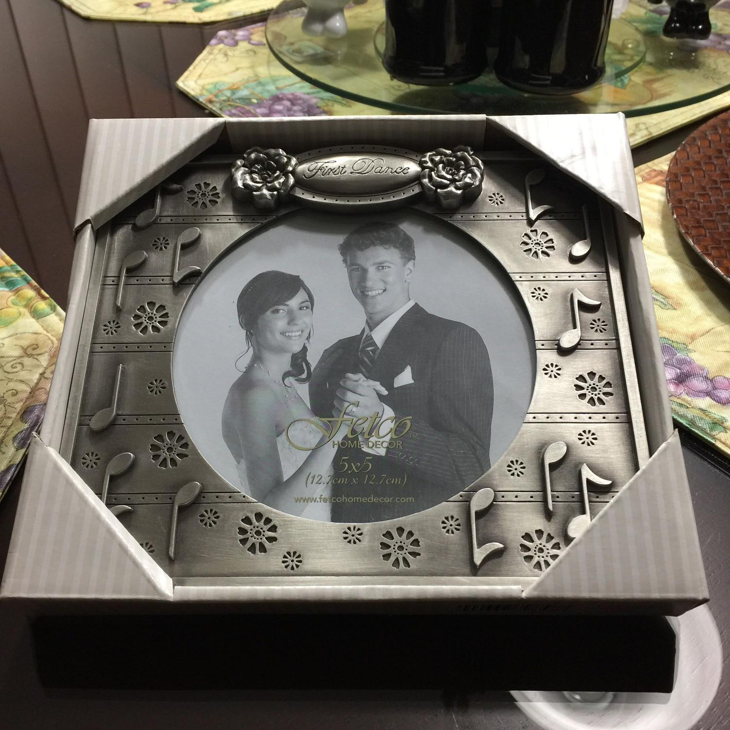 Best 5 x 5 pewter first dance picture frame for sale in for World decor auction san antonio