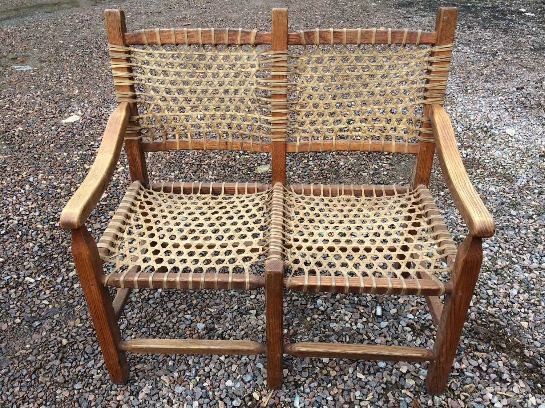 best set de chaises 2 en nerf de boeuf tress et bois franc voir les autres photos pour la. Black Bedroom Furniture Sets. Home Design Ideas