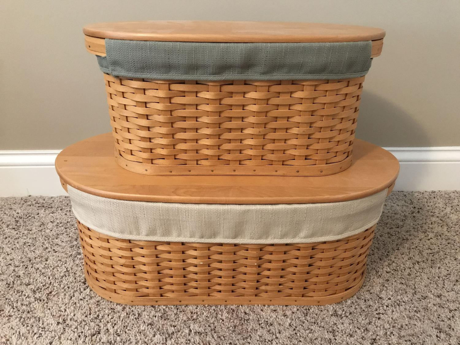 Find More Longaberger Small And Large Workload Baskets For