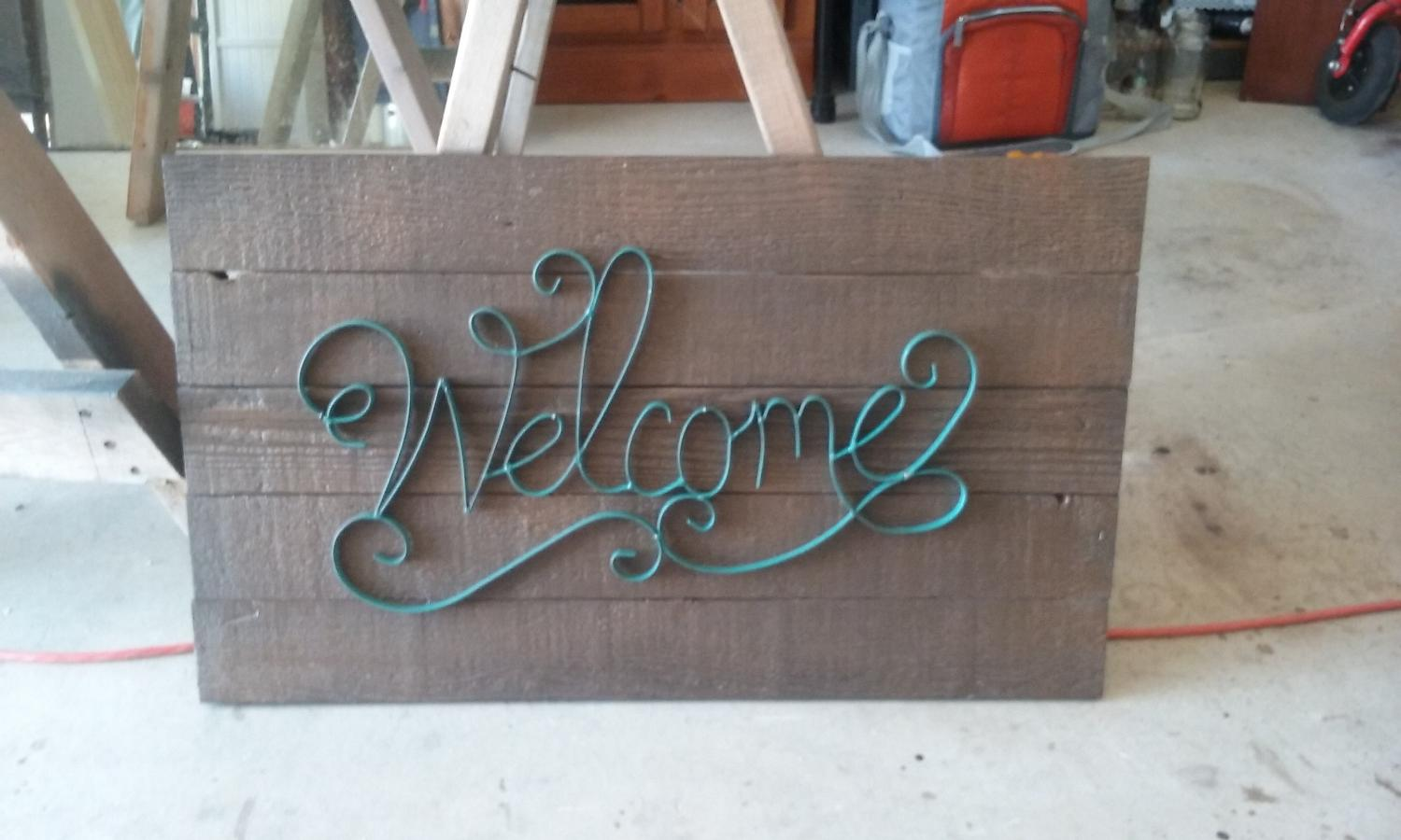 Best welcome sign brand new for sale in braun road san for World decor auction san antonio