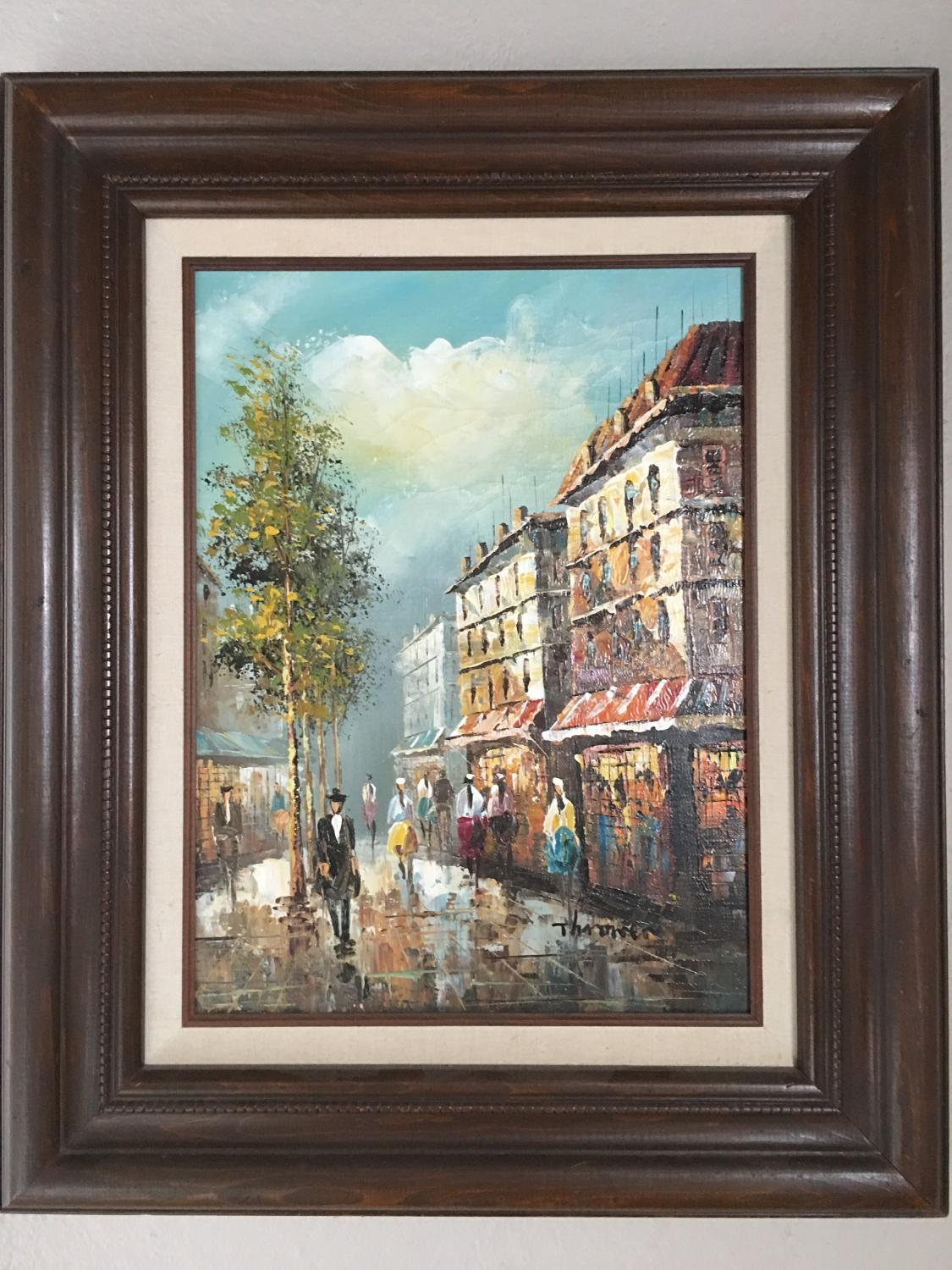 Best original oil painting paris signed and framed for for Oil paintings for sale amazon