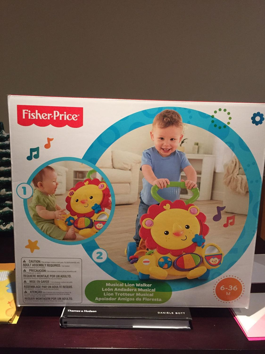 fisher price musical lion walker instructions