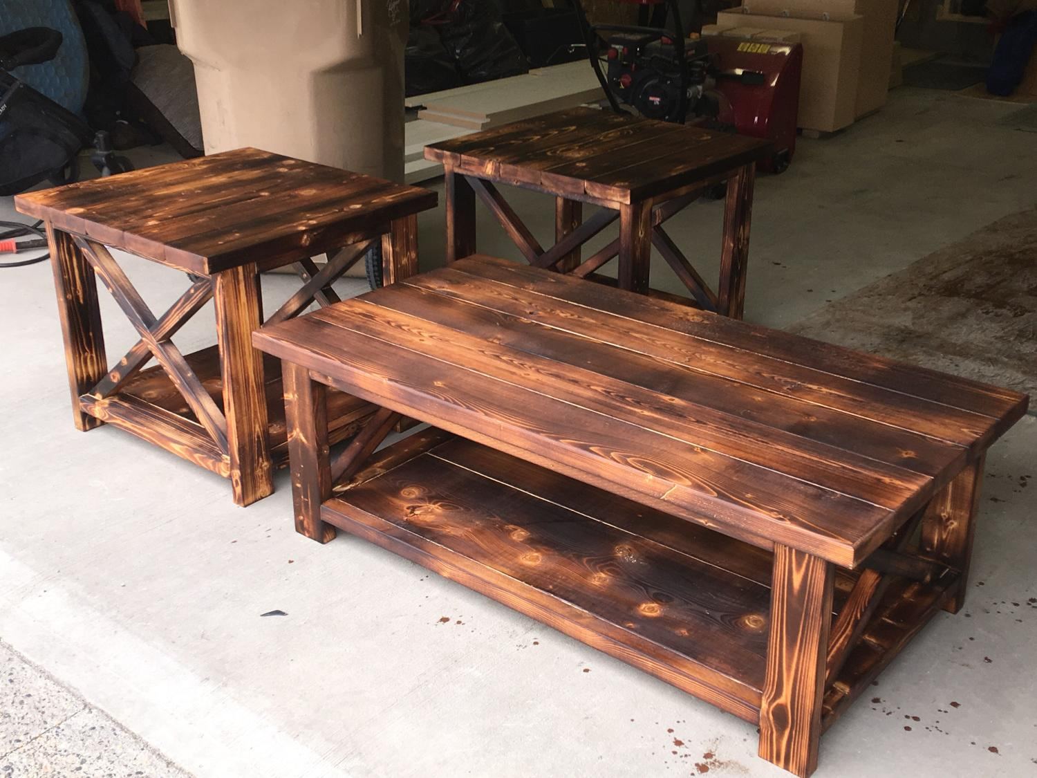 find more rustic x farmhouse style coffee table and end