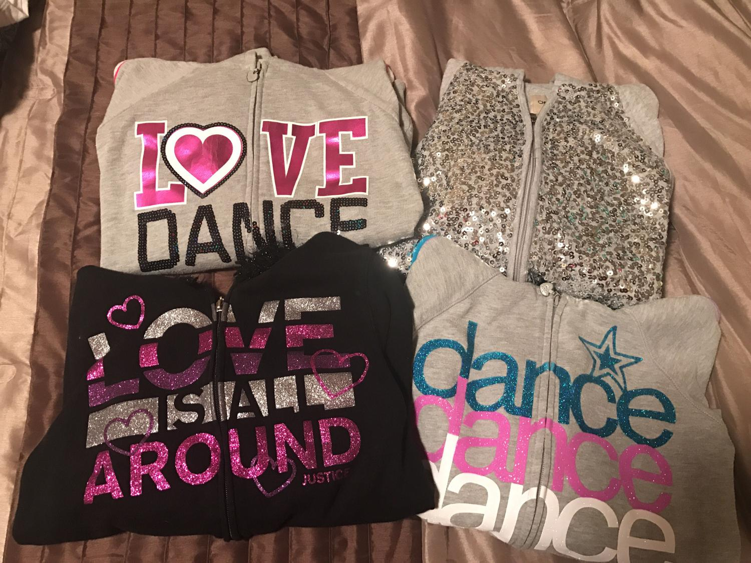 Best Girls Xl Justice Sweatshirt Lot Of 4 For Sale In