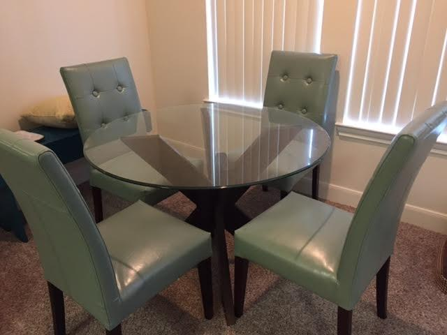 Find More Pier One Simon Collection Espresso X Dining Table Base And 4 Mason Collection Teal Dining Chairs For Sale At Up To 90 Off
