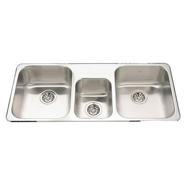Find more Kindred Triple Kitchen Sink Stainless & Aquadis Faucet ...