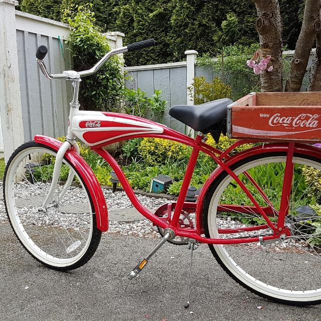 Coca Cola Retro Beach Cruiser Bike