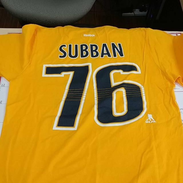 brand new 1a582 b7db0 Youth Nashville Predators PK Subban Reebok Gold Name & Number T-shirt Youth  size Large