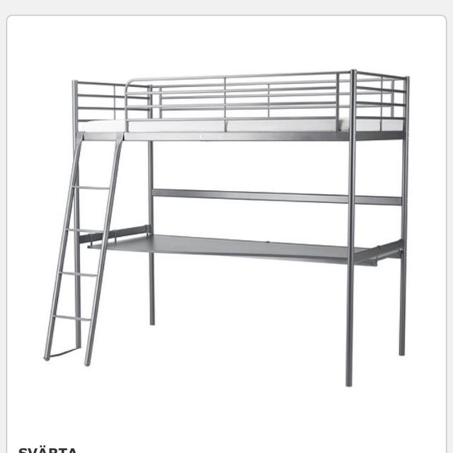 Find More Ikea Svarta Twin Loft Bed With Desk For Sale At