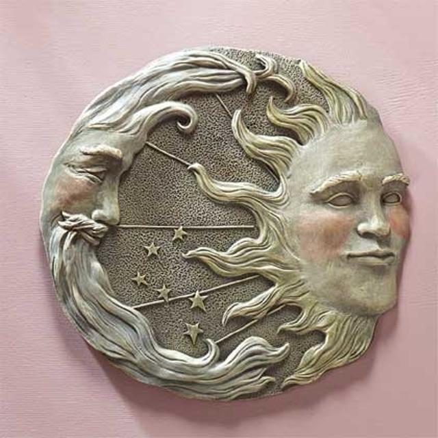 Best Sun Moon Star Wall Plaque