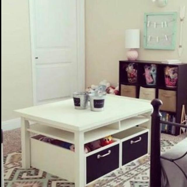 Find More Pottery Barn Kids Play Table With Large Storage Bins For