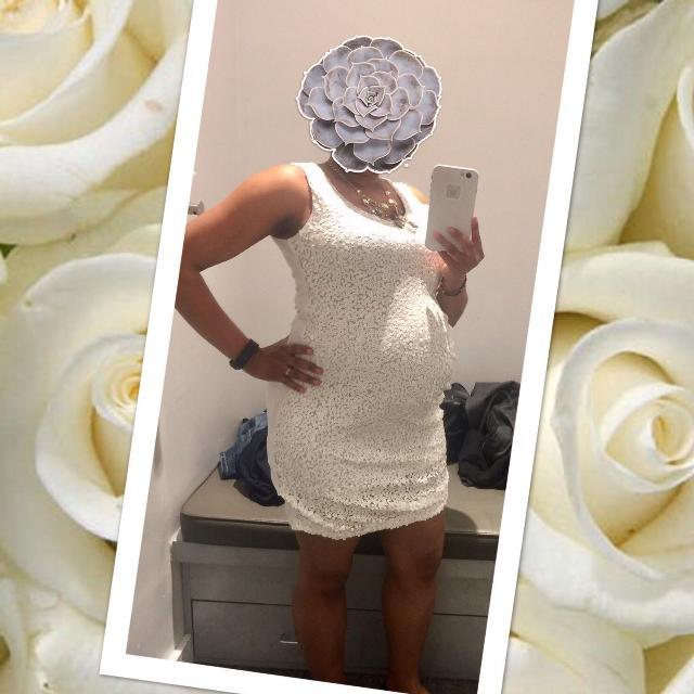 96cd80cfaa4 Best Nwt White Sequin Designer Maternity Dress For Wedding