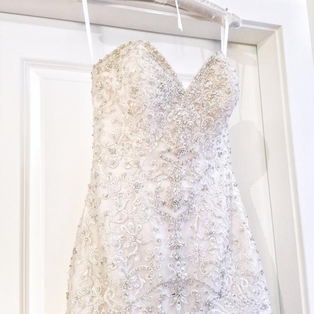 Best Mermaid Heavily Beaded Wedding Dress for sale in Vancouver ...