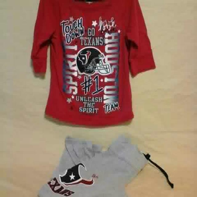 Find more Girls Houston Texans Shirt And Pants. Size 6 7. Nfl. Meet ... 86bb5c89f
