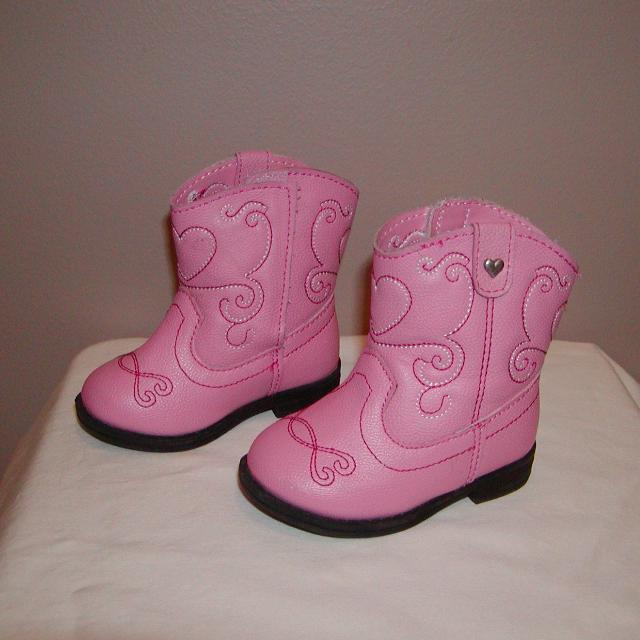 c7a91863d Find more Girls Size 3 Toddler Pink Cowboy Boots Healthtex With ...
